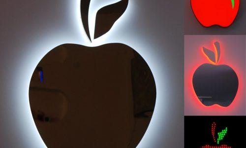 led lichtreclame voorbeelden Apples ledsignbv.nl